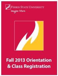 Download Orientation Booklet - Ferris State University