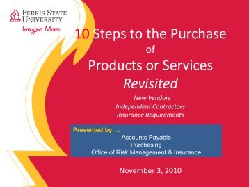 Town Hall Presentation on Contractors & Insurance - Ferris State ...