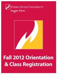 Download the Orientation Packet - Ferris State University