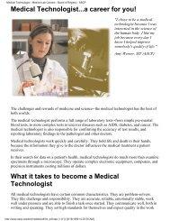 Medical Lab Careers - Ferris State University