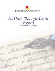 Recognizing Ferris State University Authors of 2012