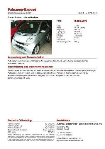 Fahrzeug-Exposé - Biesterfeldt + Schmidt Gmbh & Co. KG