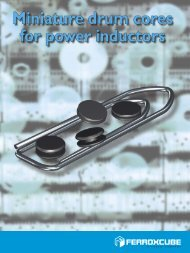 Miniature drum cores for power inductors - Ferroxcube