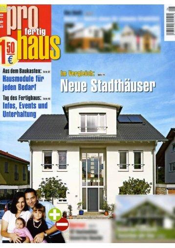 Neue Stadthäuser   Fertighaus Weiss GmbH