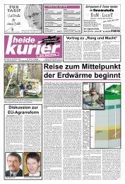 """Vortrag Zu """"Rang Und Macht"""" - Heide Kurier"""