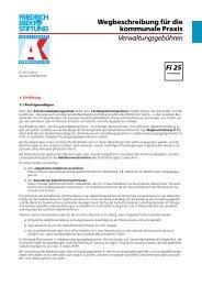 Verwaltungsgebühren - KommunalAkademie der Friedrich-Ebert ...
