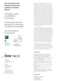 ISW 08 Stadtentwicklungspolitik