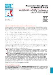 Die öffentlich-rechtliche Vereinbarung (Zweckvereinbarung)