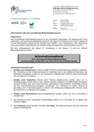 Informationsabend - Fritz - Erler Schule