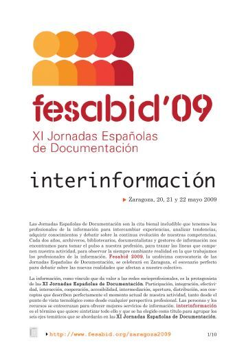 documento informativo - Fesabid