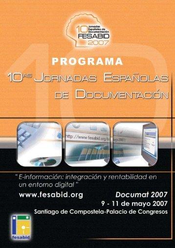 programa (pdf) - Fesabid