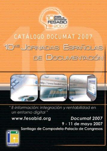 CATÁLOGO DOCUMAT 2007 - Fesabid