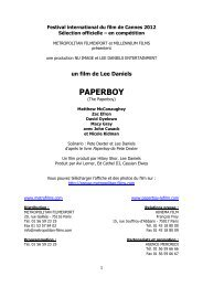 PAPERBOY Textes DP_cannes - Cannes International Film Festival