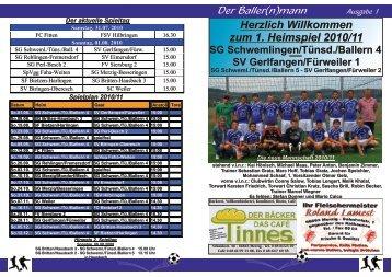 Betreuer für unsere Mannschaften gesucht! - Fußball bei der SG ...