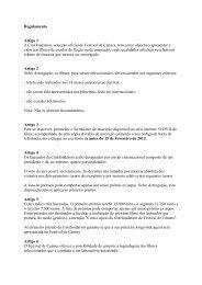 Regulamento Artigo 1 A Cinéfondation, selecção oficial do Festival ...