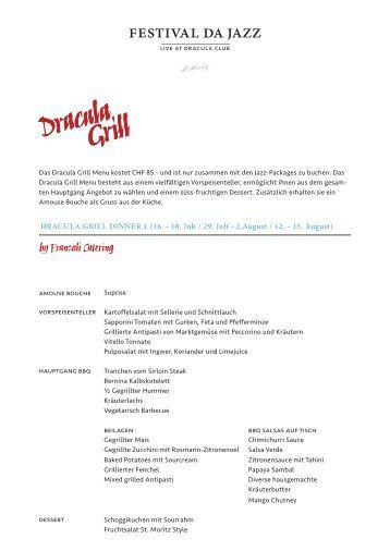 Dracula Grill Dinner 1 (16. – 18. Juli / 29. Juli – 2 ... - Festival da Jazz