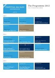 The Programme 2012 - Festival da Jazz