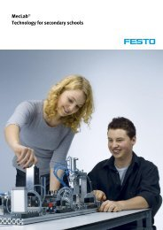MecLab® Technology for secondary schools - Festo Didactic