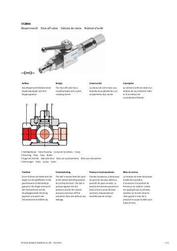 H1 h2 h1 h2 h1 js 152844 absperrventil shut off valve vlvula de festo didactic ccuart Gallery