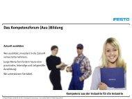 Das Kompetenzforum (Aus-)Bildung - Festo Didactic