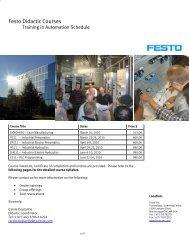 Festo Didactic Courses