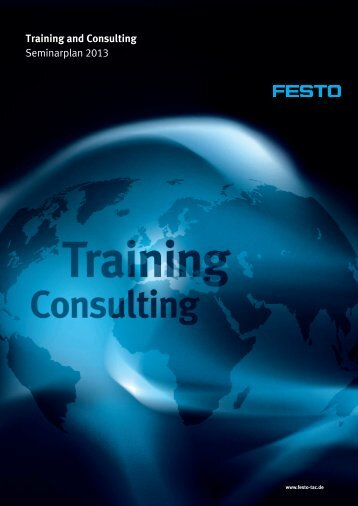 Training and Consulting Seminarplan 2013 - Festo Didactic