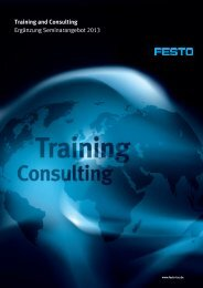 Training and Consulting Ergänzung ... - Festo Didactic