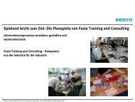 Die Methode Planspiel - Festo Didactic