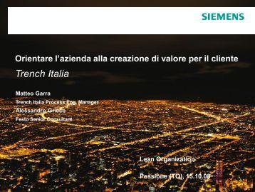 Trench Italia - Festo Didactic