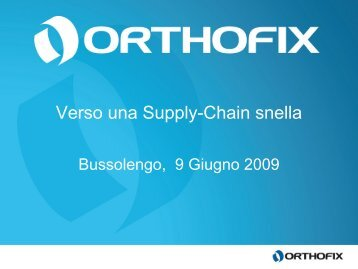 caso Orthofix - Festo Didactic