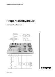 Proportionalhydraulik, Aufbaustufe (Arbeitsbuch) - Festo Didactic