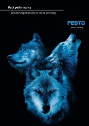 Pack performance Leadership lessons in team ... - Festo Didactic