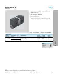 Pressure Switches SDE5 - Festo