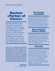 Bachem «partner of Choice»