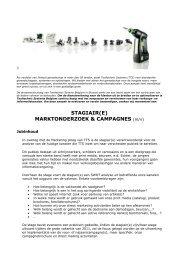 STAGIAIR(E) MARKTONDERZOEK & CAMPAGNES (m/v) - Festool