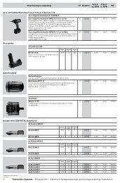 2 Tooltechnic Systems - Prijslijst 2011 - Elektrisch ... - Festool