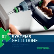 Download the woodworking and painter brochure - Festool United ...