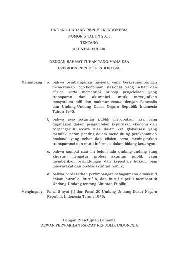 UU No. 5 Tahun 2011 tentang Akuntan Publik.pdf