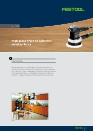 High-gloss finish on authentic wood surfaces - Festool