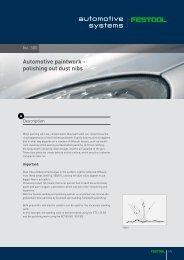 Automotive paintwork - polishing out dust nibs - Festool