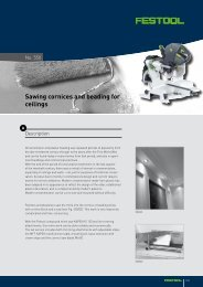 Sawing cornices and beading for ceilings - Festool
