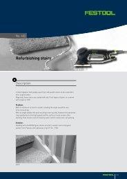 Refurbishing stairs - Festool