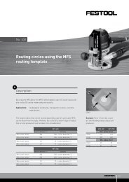 Routing circles using the MFS routing template - Festool