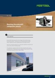 Routing Alucobond® composite panels - Festool