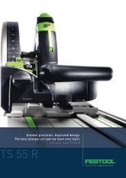 Greater precision. Improved design. The best plunge-cut saw - Festool