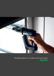 Decidedly different: Cordless drills by Festool.