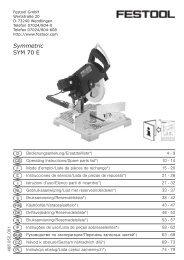 Symmetric SYM 70 E - Festool