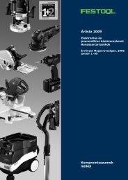 Kompromisszumok nélkül Árlista 2009 - Festool