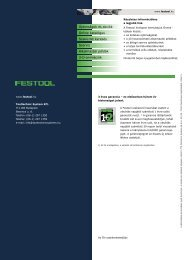 A KAPEX prospektus letöltése - Festool