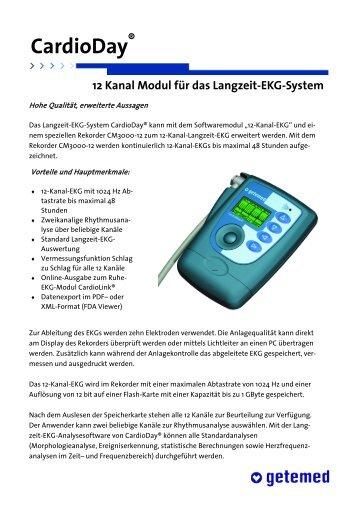 12 Kanal Modul für das Langzeit-EKG-System